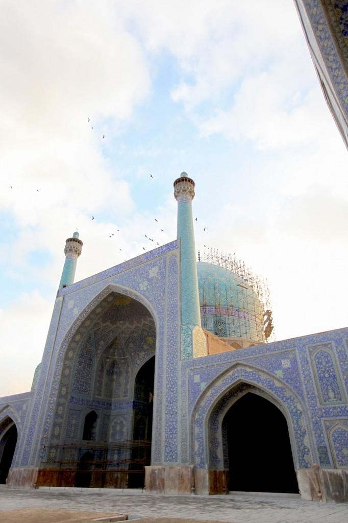 Isfahan et Persepolis : vue du dôme de la mosquée à isfahan