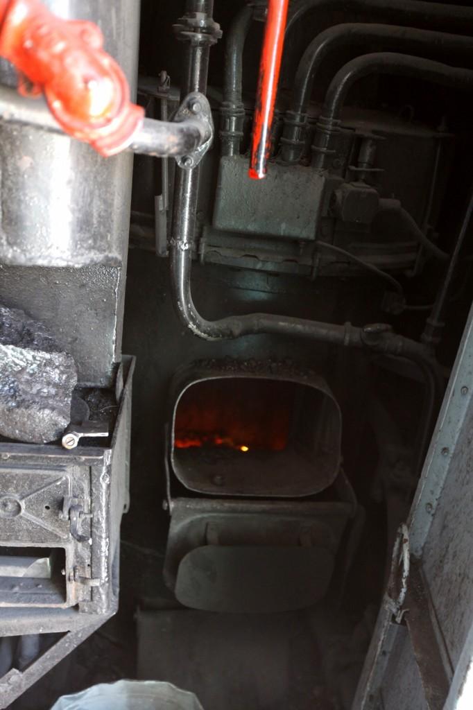 chauffage du train Kazakhstan par charbon